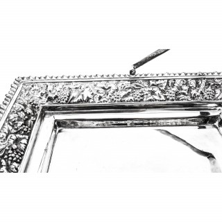 Antique Victorian Silver Plated Fruit Basket Daniel & Arter
