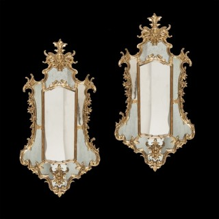 A Pair of Mid 18th Century Italian Looking Glasses