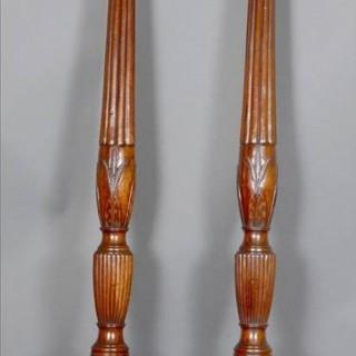 Fine pair 18th century bed-posts