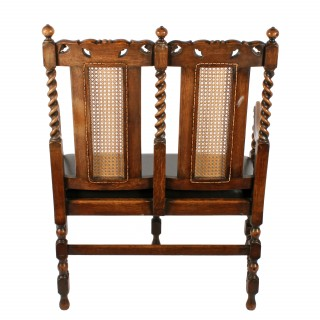 Jacobean Style Two Seat Settee