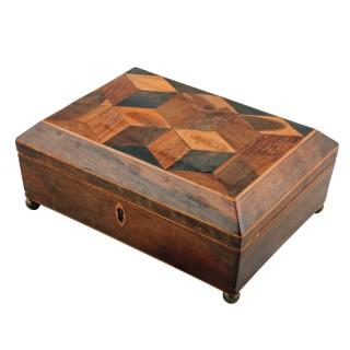 Tunbridge Ware Needlework Box