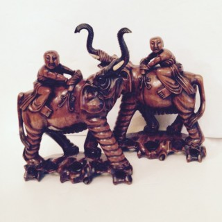 Pair of  Chinese Export Elephants.