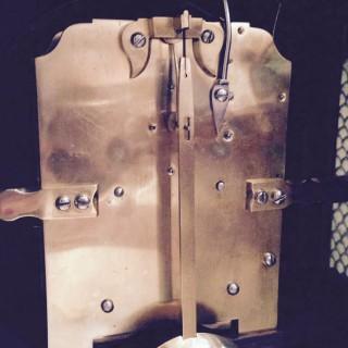 Satinwood Bracket clock by Leach of Romsey.
