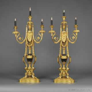 Pair of Napoléon III Four-Light Candelabra