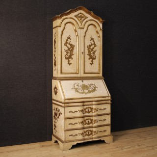 20th Century Spanish Lacquered And Gilt Trumeau