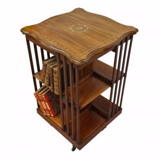 Sheraton Style Mahogany Revolving Bookcase