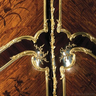Gilt-Bronze Mounted Marquetry Armoire