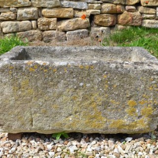A small 19th century Cotswold stone trough