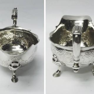 George II Silver Sauce Boats