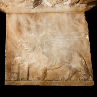 19th Century Italian alabaster relief panel in the Orientalist style