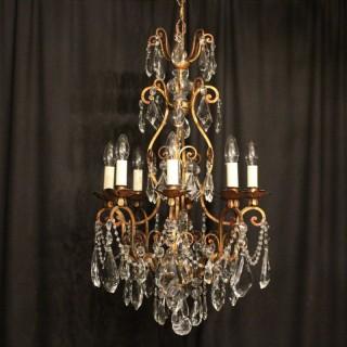 Italian Florentine 8 Light Antique Chandelier