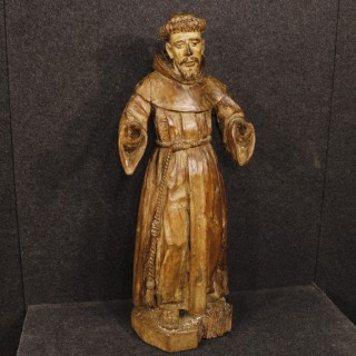 18th Century French Religious Sculpture Saint Francis
