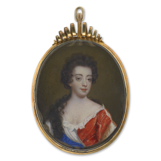 Portrait miniature of a Lady, previously thought to be Queen Mary II