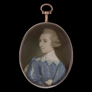Portrait miniature of a Gentleman, wearing Van Dyck costume