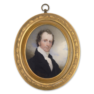 Portrait miniature of The Rev George Griffin Stonestreet