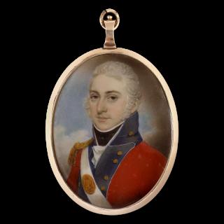 Portrait miniature of an Officer