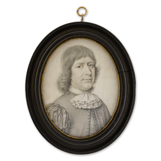 Plumbago portrait of James, 2nd Marquess of Douglas and Earl of Angus