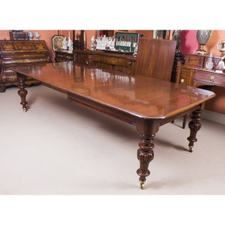Antique Victorian 12 ft Flame Mahogany Extending Dining Table C1860