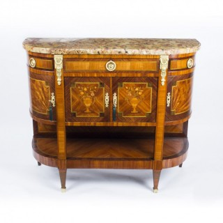 Antique French Marquetry Sideboard Marble Top c.1880