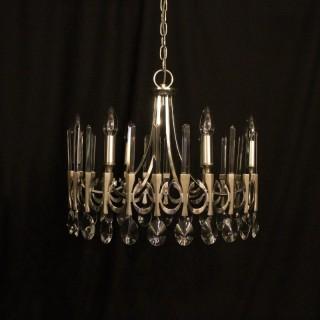 Italian Gaetano Sciolari 6 light chandelier