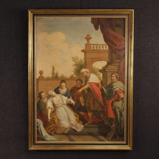 18th Century Italian Religious Painting Biblical Scene