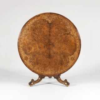 Walnut with Marquetry Centre Table