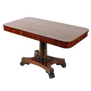 George IV Zebra Wood Library Table