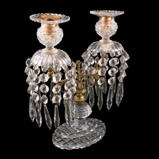 Irish Cut Crystal Candelabra