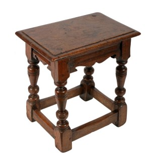 17th Century Style Oak Jointed Stool