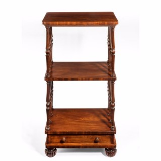 A late Regency mahogany three tier  what not, attributed to Gillows