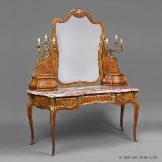 Gilt-Bronze Mounted and Marquetry Dressing Table