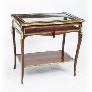 Antique Rosewood & Marquetry Bijouterie Display Table