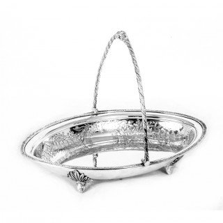 Antique Victorian Silver Plated Fruit Basket James Deakin