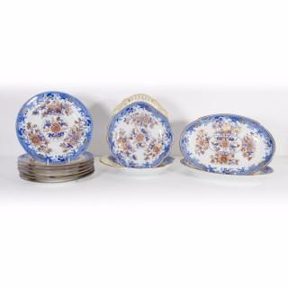 Antique Victorian Spode Dessert Set Imari Style c.1820