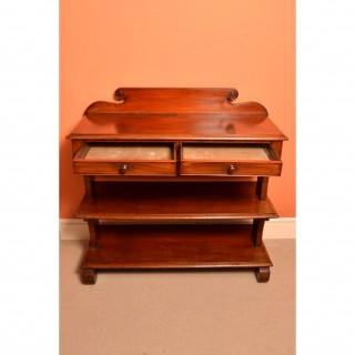 Antique Victorian Mahogany Serving Table Buffet c.1850