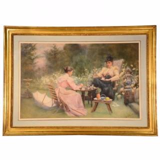 Antique Watercolour by Maude M Turner c.1900