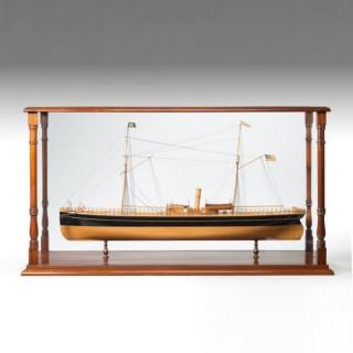 A fine shipyard model of a steamship
