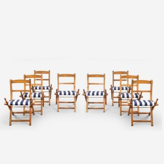 SET OF SHIP'S FIRST CLASS FOLDING CHAIRS