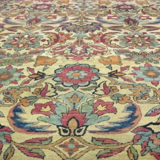 Stunning late 19th century fine Laver KIrman carpet