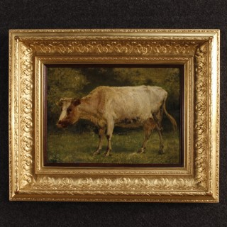 19th Century Belgian Painting Signed A. Plumot