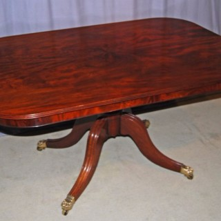 Regency period Mahogany rectangular tilt-top breakfast table