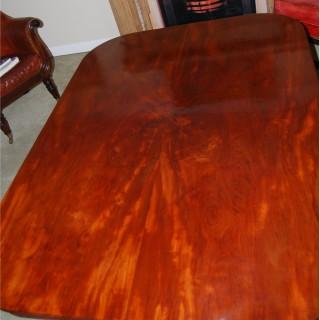 Regency period Mahogany rectangular tilt-top breakfast table