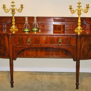 Regency period flame figured Mahogany bow fronted sideboard