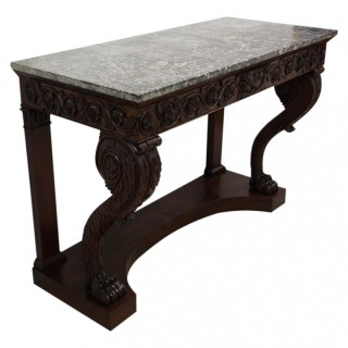 William IV Console Table with Marble Top