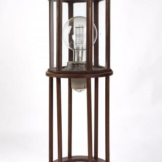 An enormous lighthouse bulb