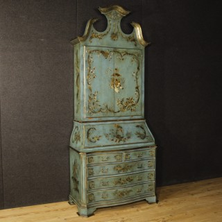 20th Century Spanish Lacquered And Golden Trumeau