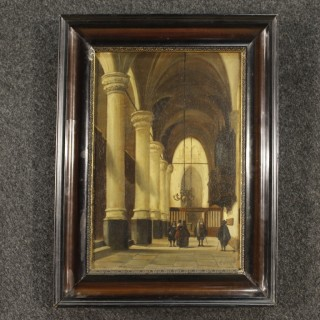 19th Century French Painting Oil On Panel