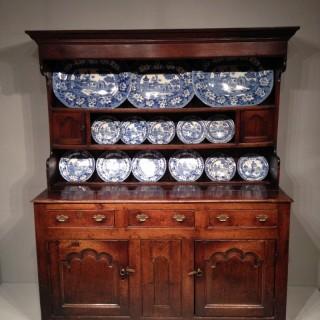 North Wales oak dresser and shelves.