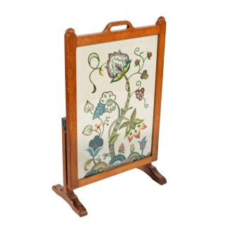 Oak Tapestry Fire Screen by Beaverman