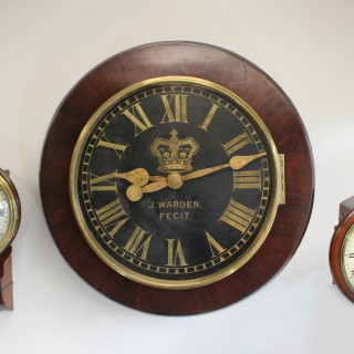 Very large Antique wall clock by J. Warden
